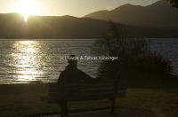 Sonnenuntergang Te Anau